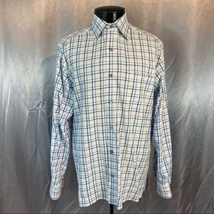 Ermenegildo Zegna men's plaid button down shirt